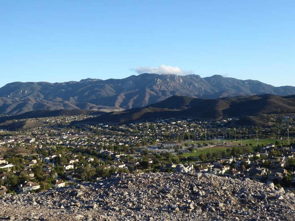 View of Boney Mountain range from midway up the Powerline Trail in Newbury Park