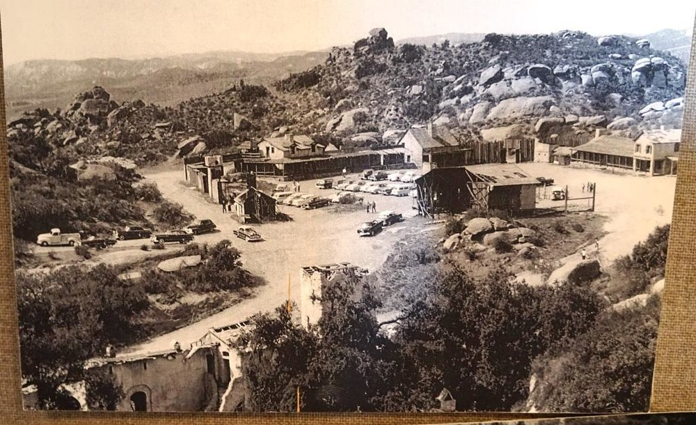 A photo of the Corriganville Movie Ranch when it was an active movie set. Learn more about Corriganville and see a model of what it looked like in the 1960s at the nearby   Santa Susana Depot Museum  .