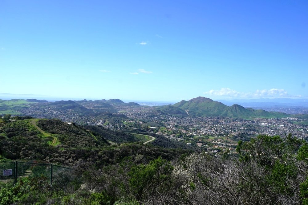 View from Rosewood Trail in Newbury Park