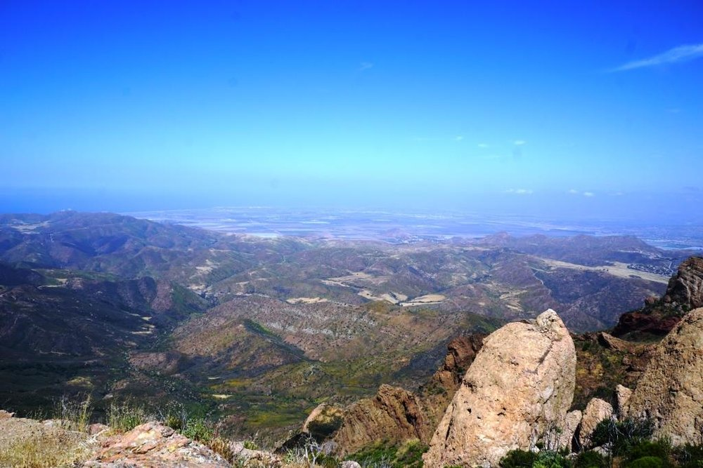 View towards the Oxnard Plain from Tri Peaks.