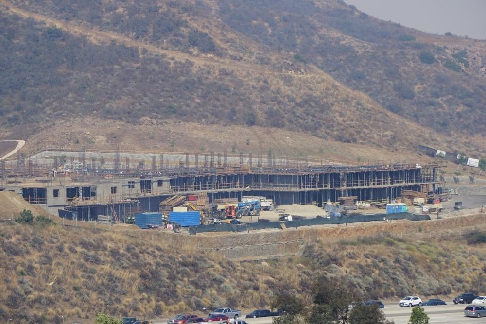 Progress being made on the 130 unit Sage Mountain Assisted Living facility adjacent to the 101 in Newbury Park.