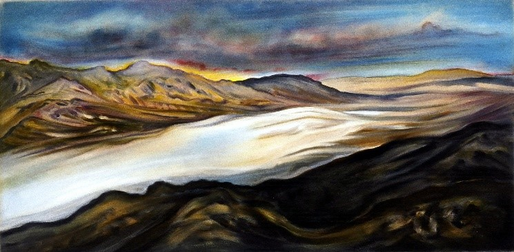 Death Valley Salt Flats by artist Linda Vallejo