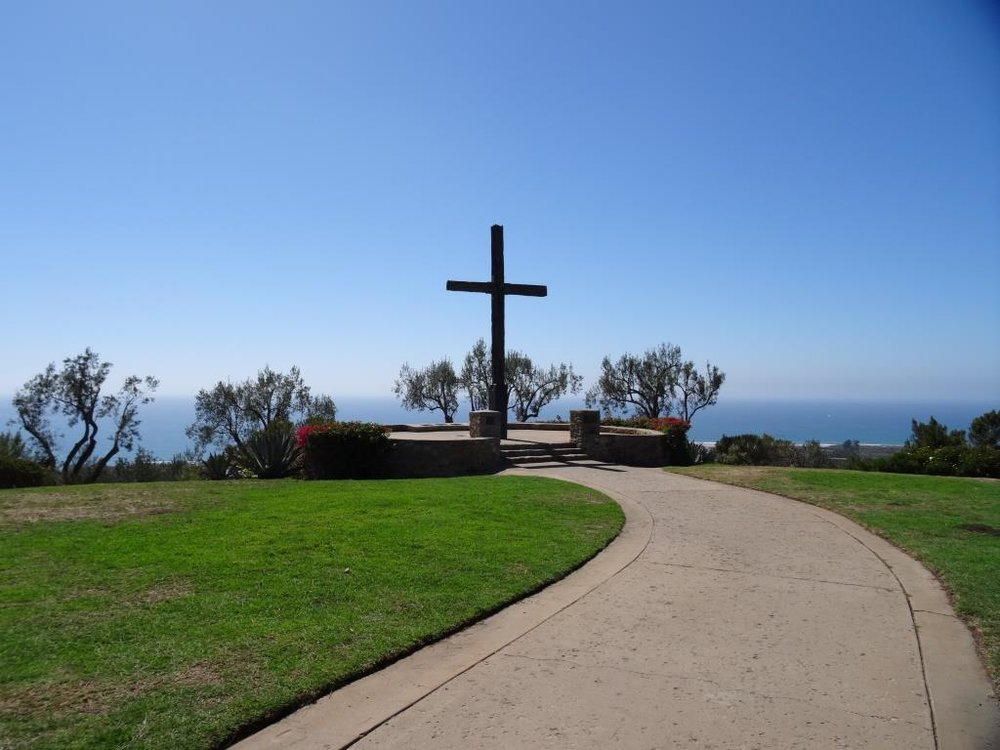 The cross at Grant Park / Serra Cross Park in 2015.