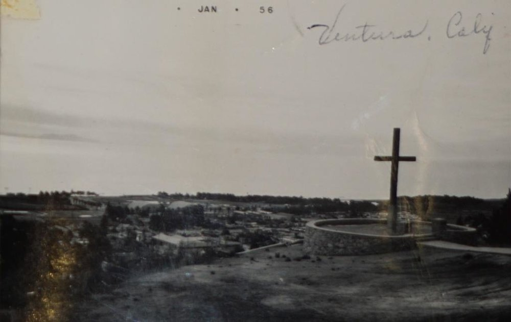 Serra Cross in January 1956, from a private collection.