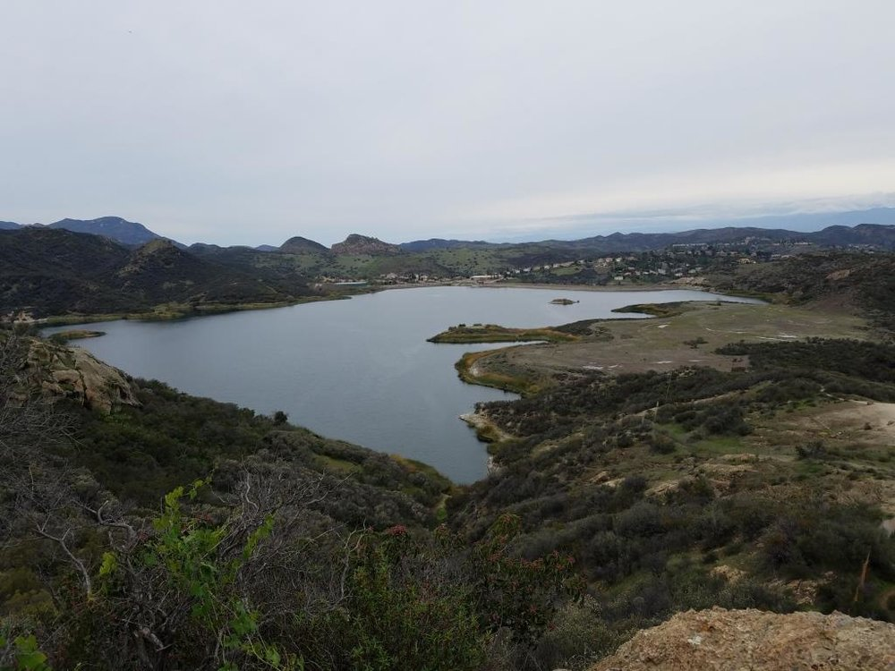 Las Virgenes Reservoir, the only body of water lying completely in the City of Westlake Village.