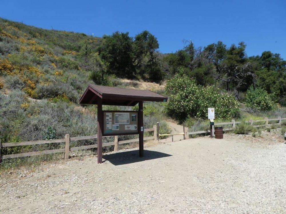 Potrero Ridge Trail trailhead (and parking area) off of Reino Road