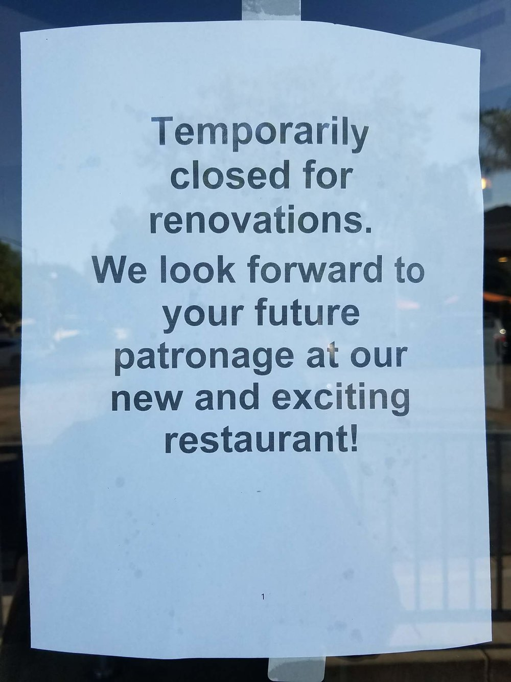 Something else apparently is coming in, however! (Sign at Thousand Oaks location.)