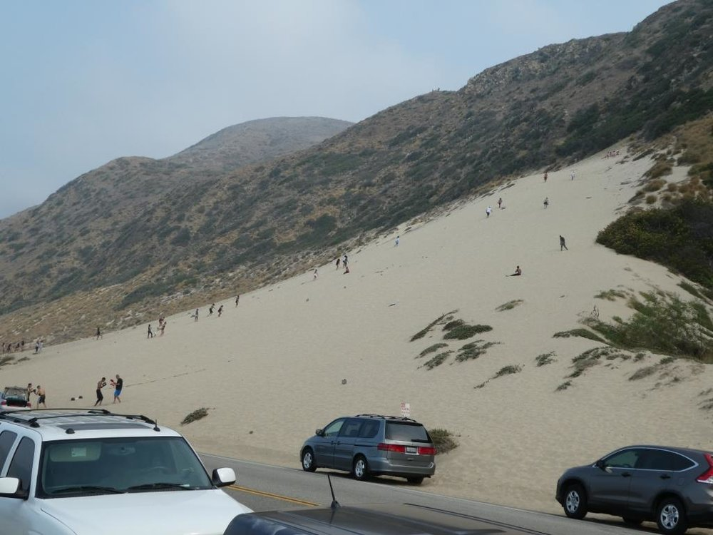 The humongous sand dune walking distance from Sycamore Cove.