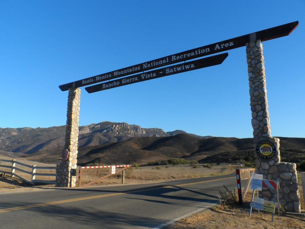 The entry to the Rancho Sierra Vista/Satwiwa area.