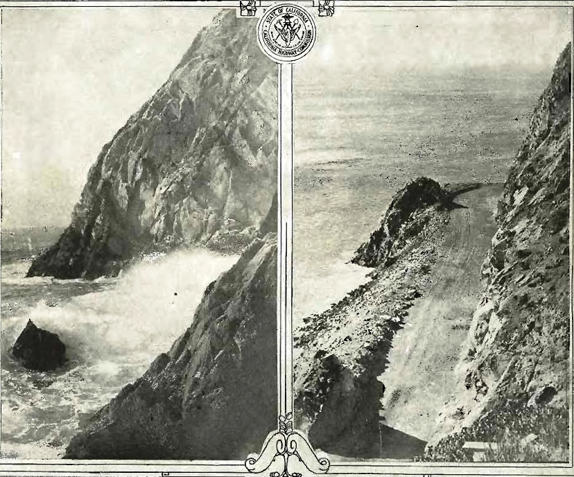 Point Mugu before and after creation of a narrow road around it in 1924.
