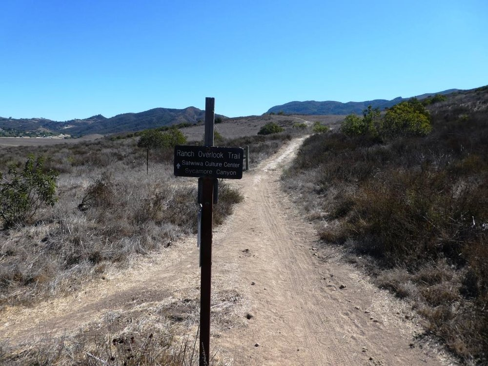 This sign is at the bottom of the west side of the Ranch Overlook Trail, facing east, if you opt to take the trail counter-clockwise from the parking area.