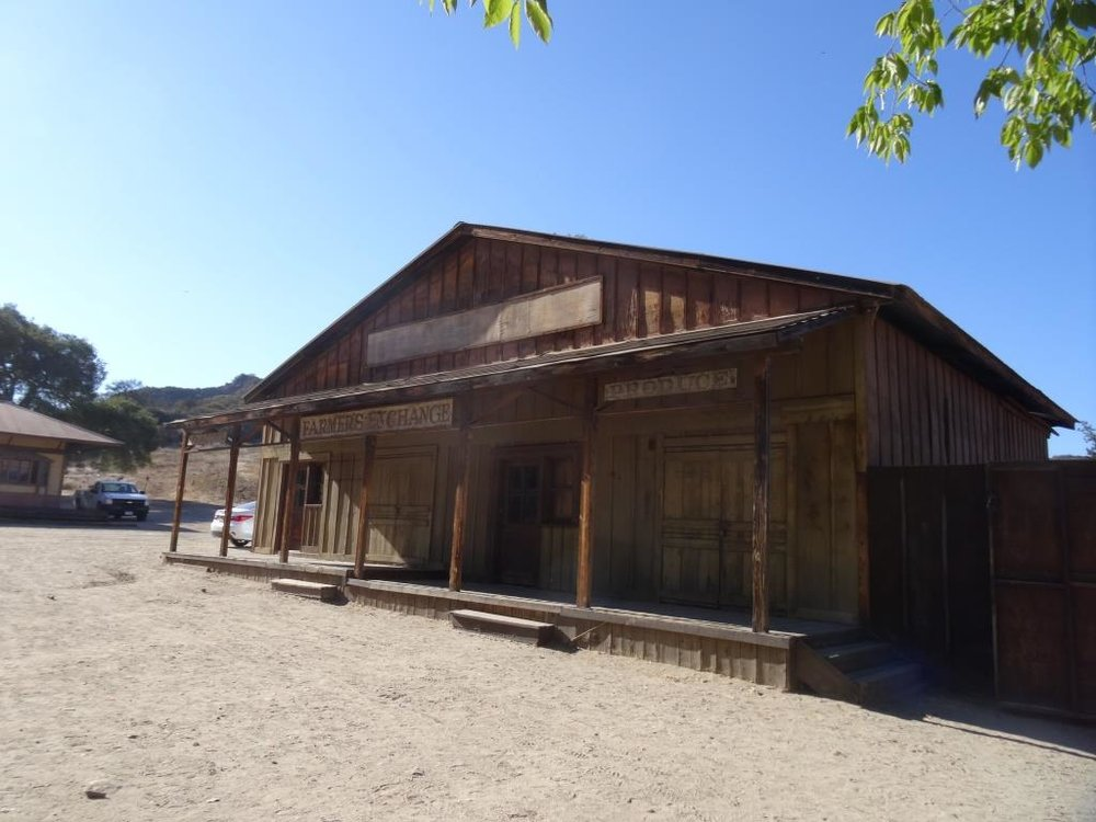 Farmer's Exchange structure in the Western Town at Paramount Ranch