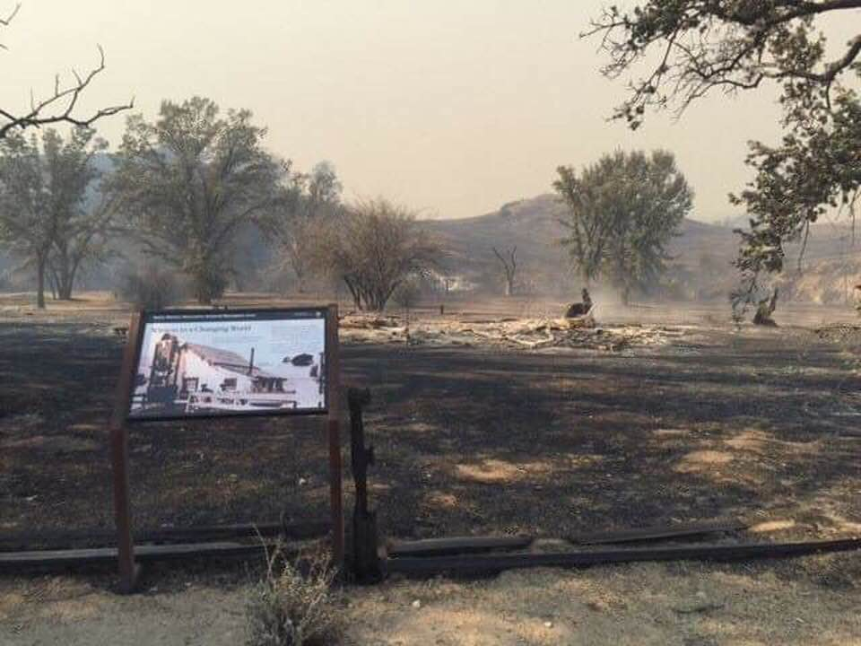 Morrison Ranch House after the Woolsey Fire (Photo courtesy of Friends of Morrison Ranch House at  twitter.com/SantaMonicaMtns/status/1062025537927827456 )