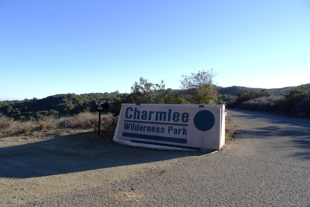 Charmlee entrance is greener, yet still dry, times.