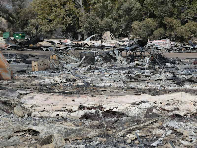 Western Town at Paramount Ranch destroyed in the Woolsey Fire.