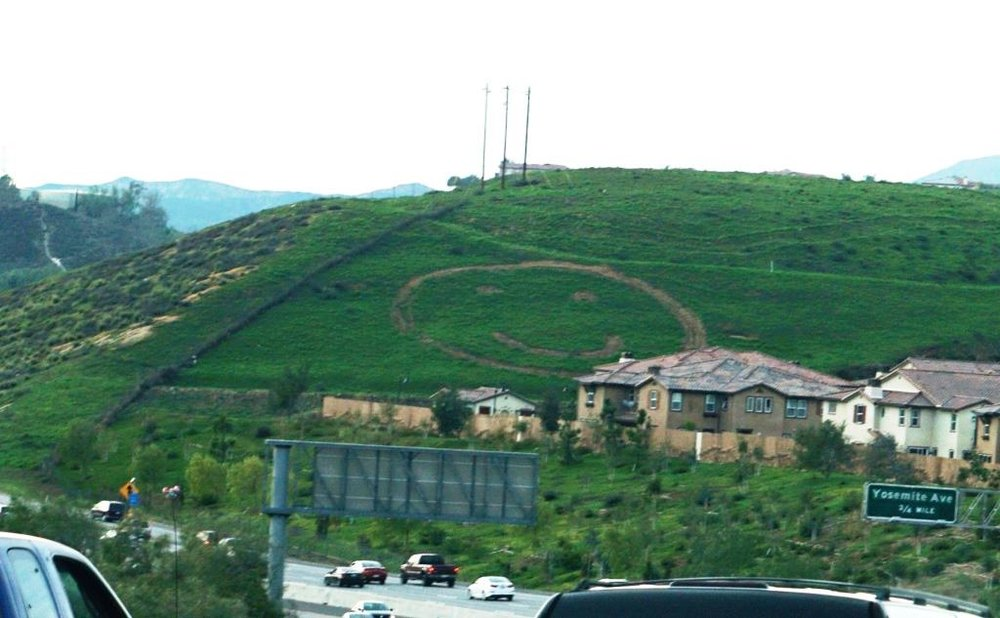 Happy Face Hill in Simi Valley - sure to bring a smile to your face.