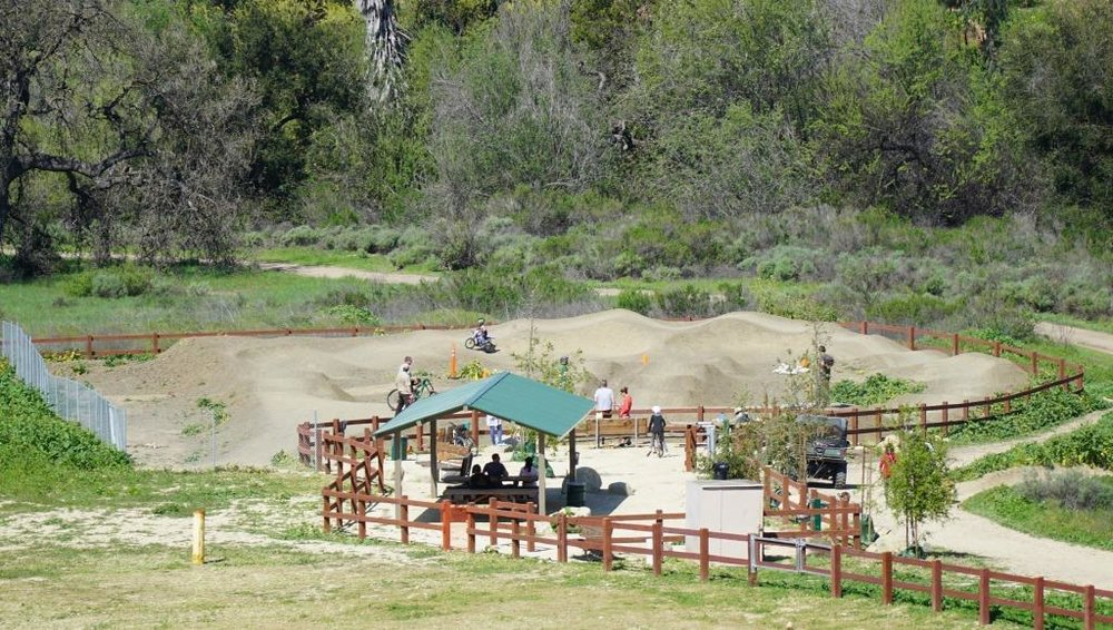 Beginners' pump track at Sapwi Trails Community Park.