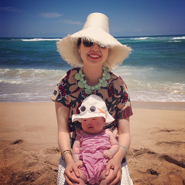 marni and me at turtle beach