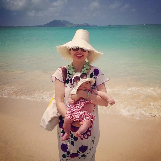 marni and me at kailua beach