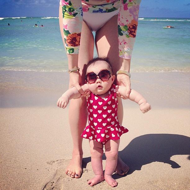 marni and me on waikiki beach