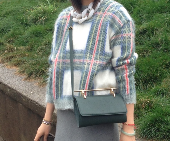 stella mccartney tartan sweater