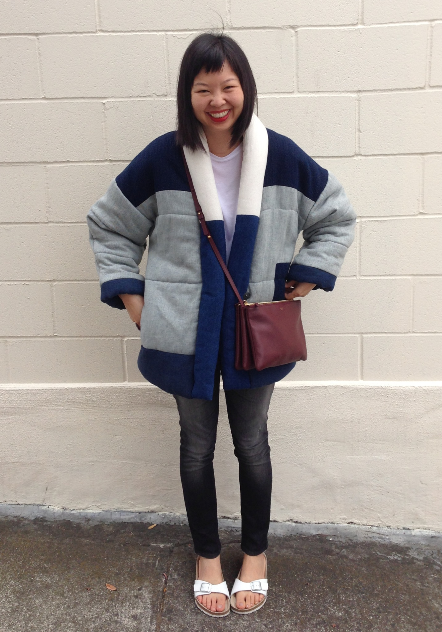 etoile by isabel marant dempster jacket and white birkenstocks