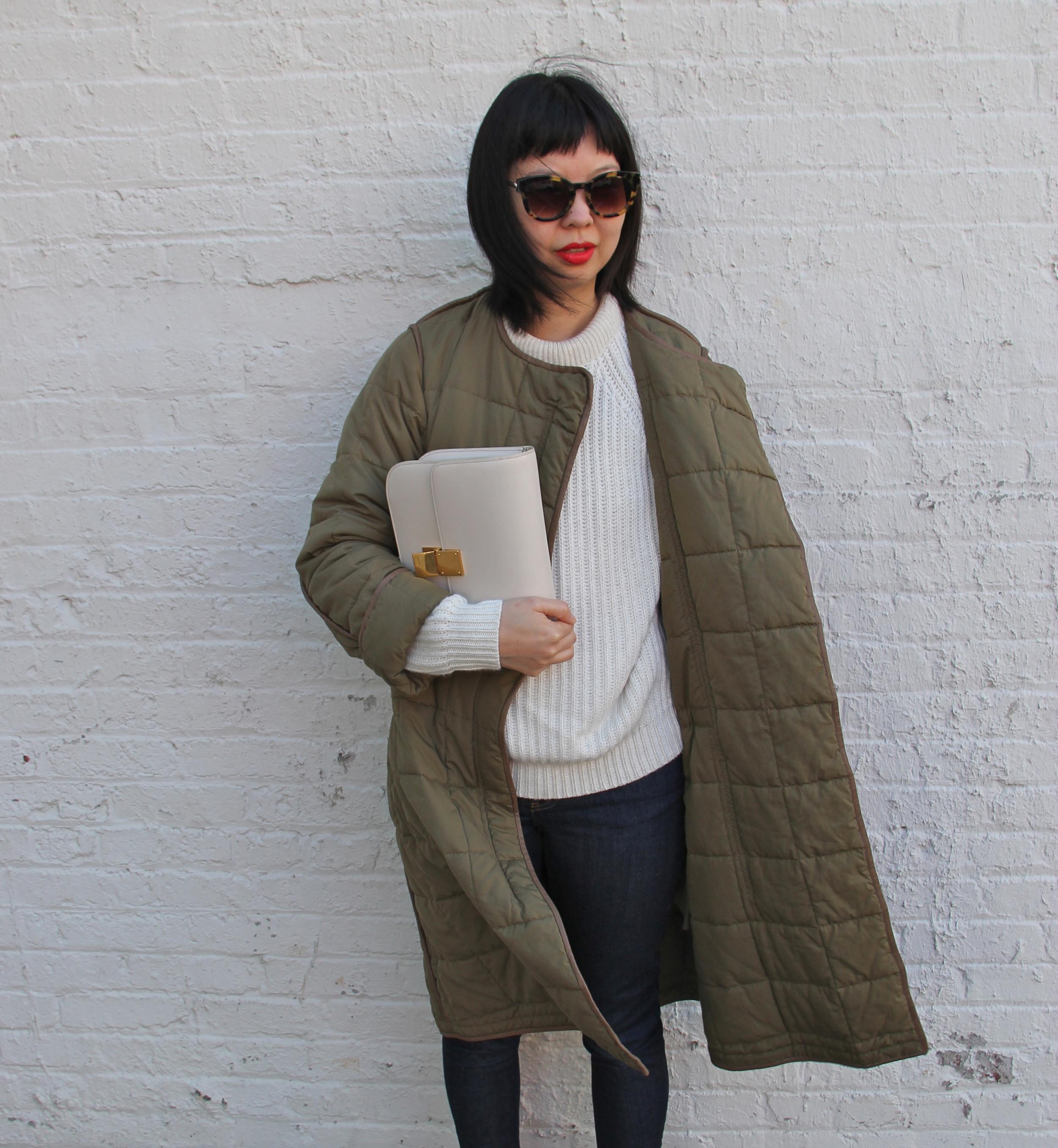 399f5a0cd0e9 ... ivory celine box bag and Zara sweater