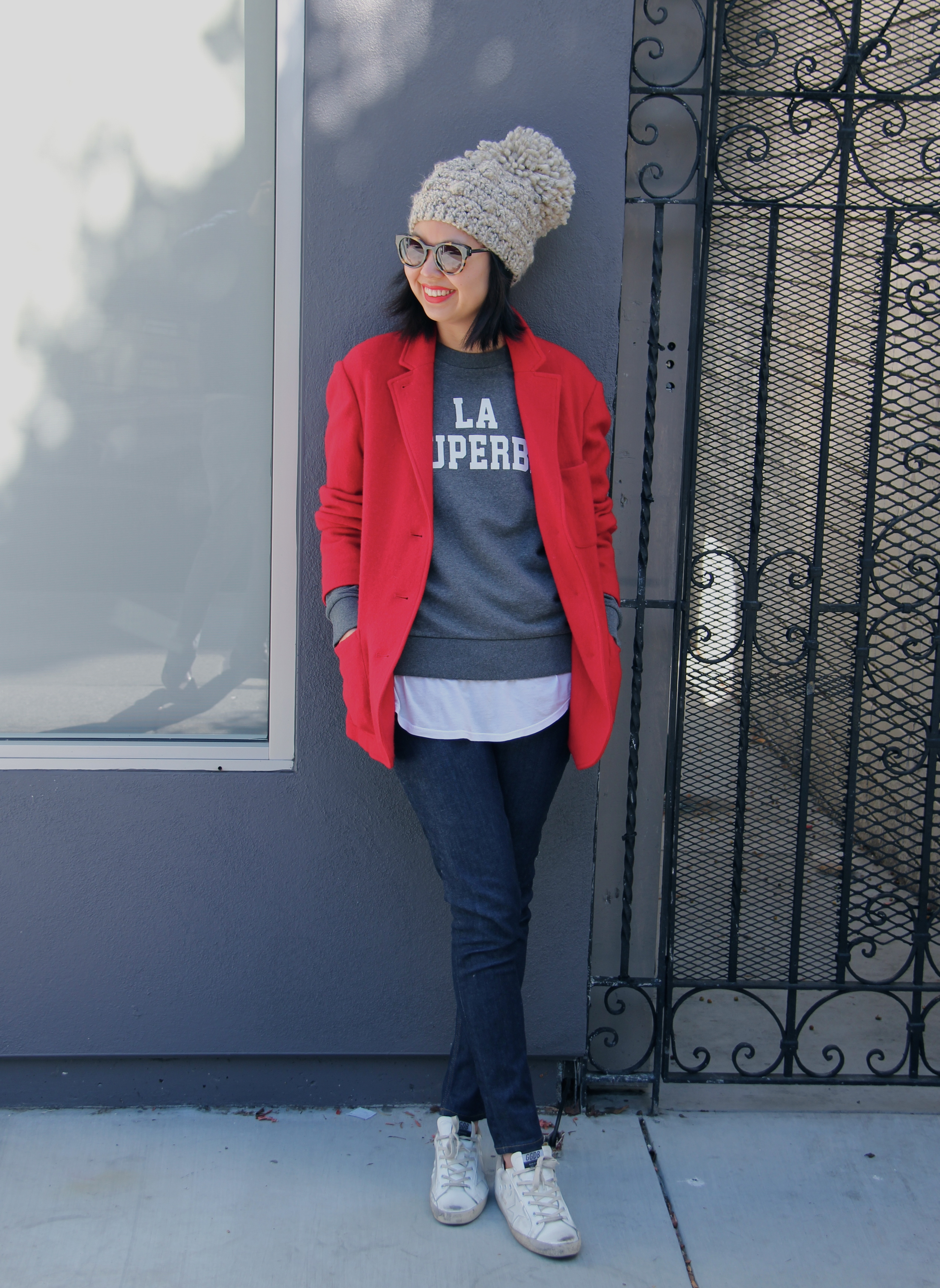 7bc43ced230a red toile by isabel marant jada jacket ...