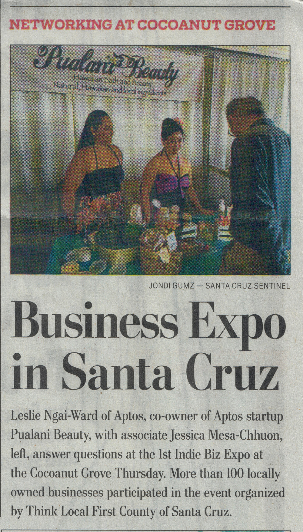 Our leading ladies in the Santa Cruz Sentinel #indiebizexpo #scsentinel