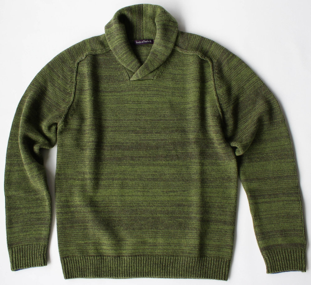 Sweet Shawl Neck Sweater in Olive