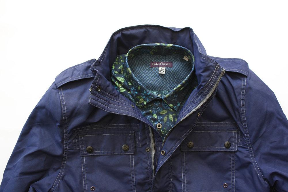 Sergeant Jacket in Navy // Nigel Floral Shirt in Navy
