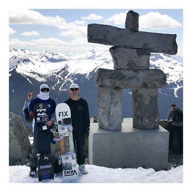@masseguin and @russellin of the @the_bruners  made it out west to the glacier today. Public park looks sick #fixbindingco #whistlerblackcomb