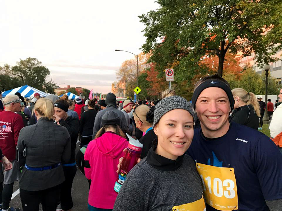 Running my first 10k during the Twin Cities Marathon Weekend in 2016