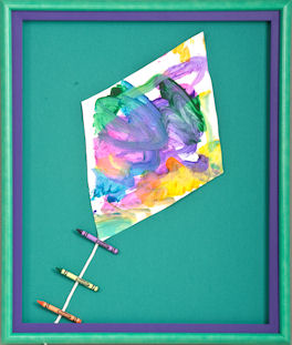 framed children's art ideas