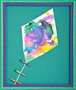 framed children's art ideas