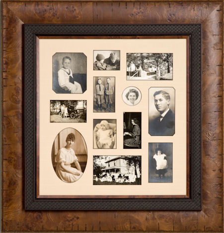 family photo frame ideas - custom multiple mat opening frame