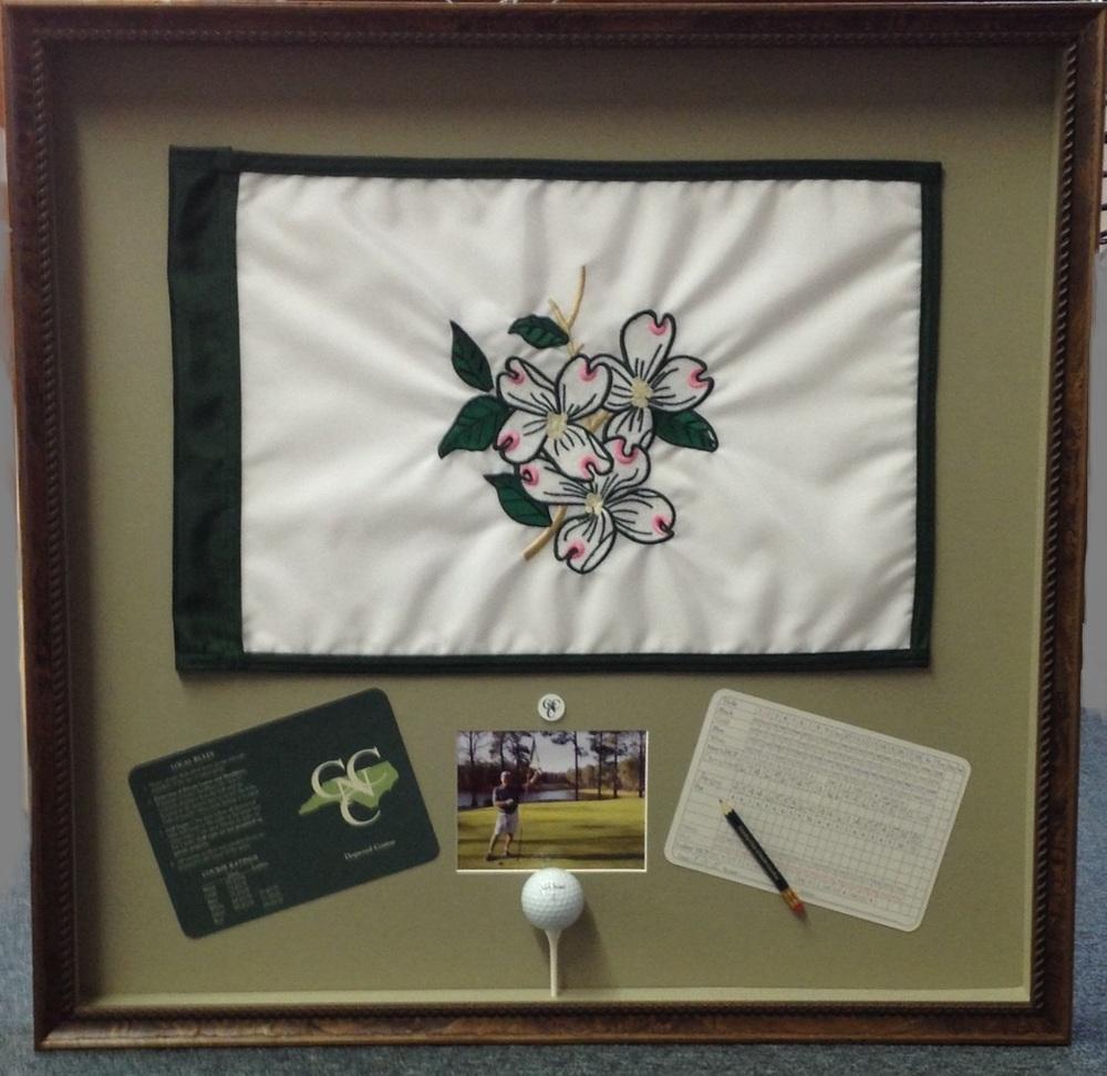 Framed Golf Flag