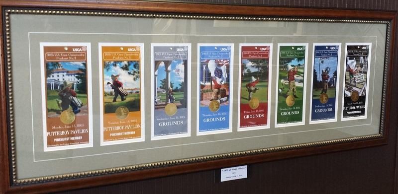 Framed Golf Tournament Tickets