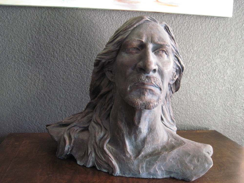 Denny, 18x18x10 clay sculpture