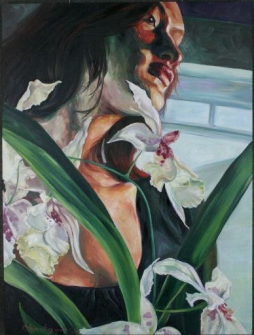Orchids 40x30x2 oil on canvas