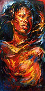 Beautiful Dreamer 48x24 oil on canvas