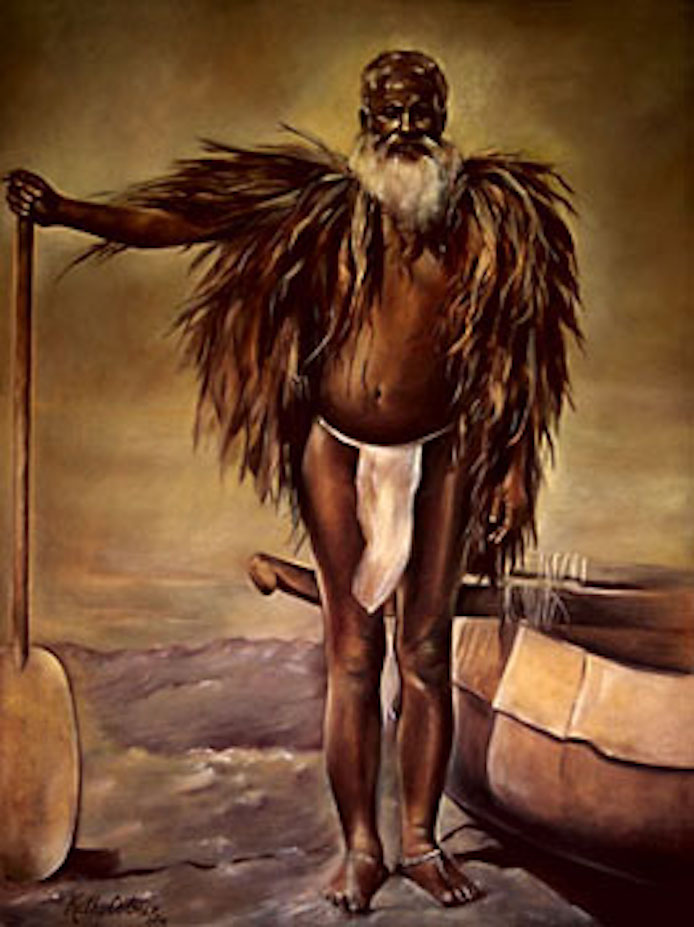 Paddle Man, 48x36 oil on canvas