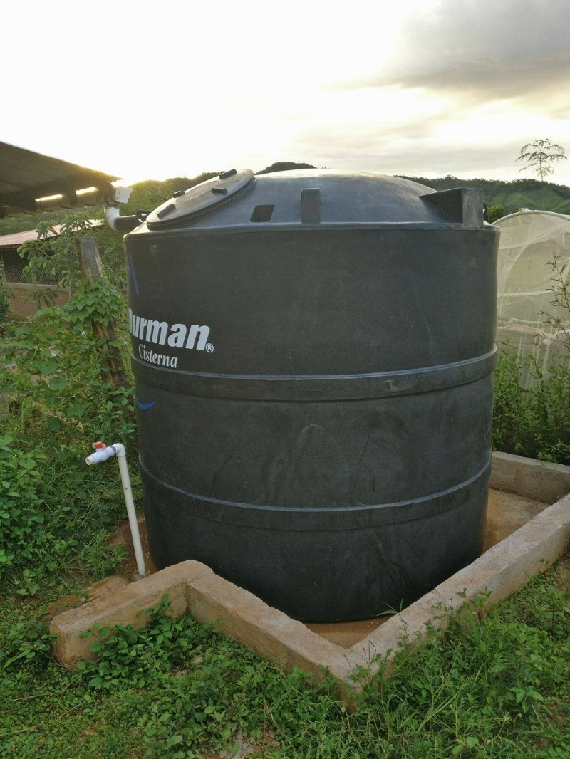 One of the water tanks Casa - Pueblito supporters helped sponsor in Jiñocuao