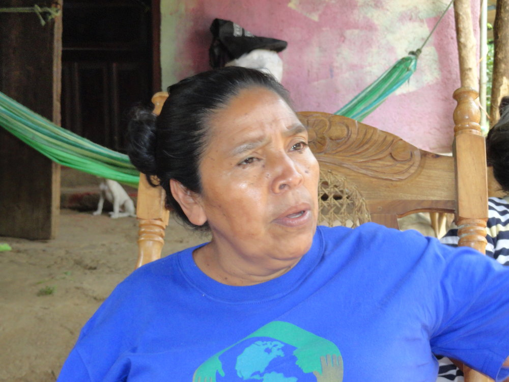 Doña Lola Esquivel, one of the community leaders of the Gloria Quintanilla Cooperative