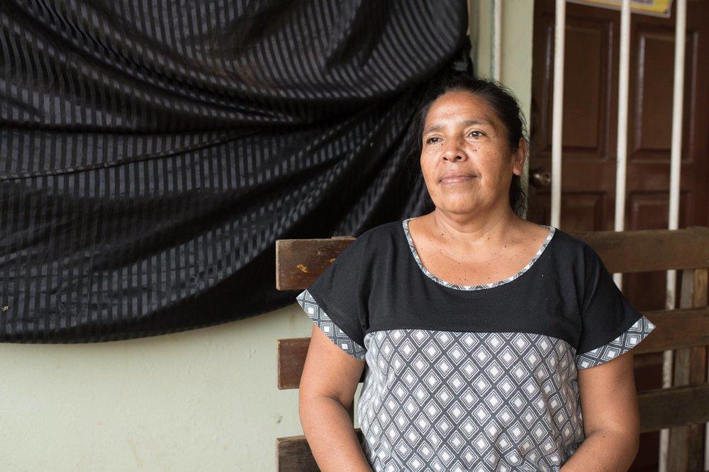 Doña Lola,member of the Gloria Quintanilla Women's Cooperative