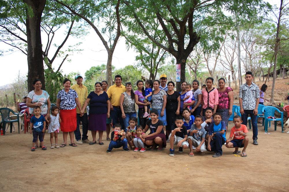 Families in Jiñocuao, Nicaragua