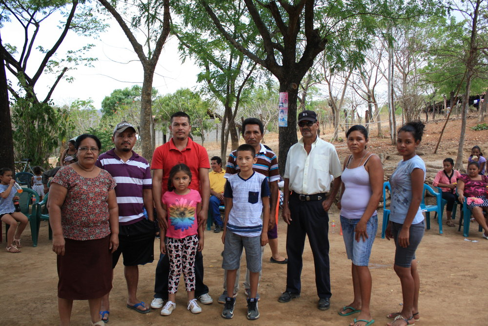 Community members in Jiñocuao who benefitted from the second phase of the latrine project in 2018