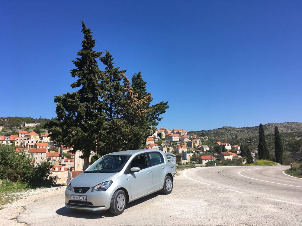 Rent a car - Even this gutless, Spanish smartcar was loads of fun to drive around Croatia