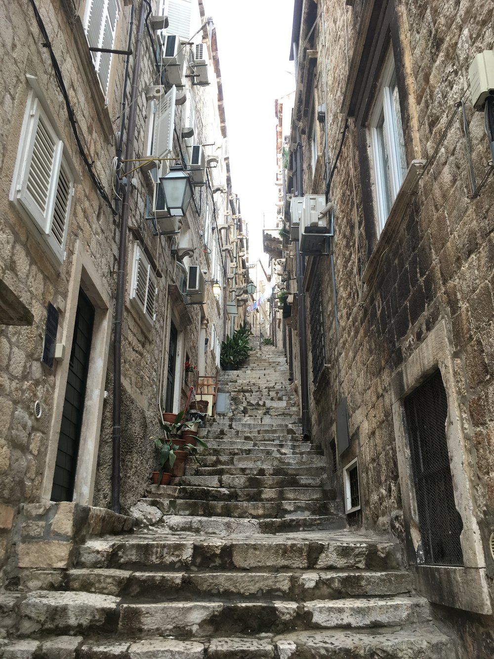 Dubrovnik is lots of steps