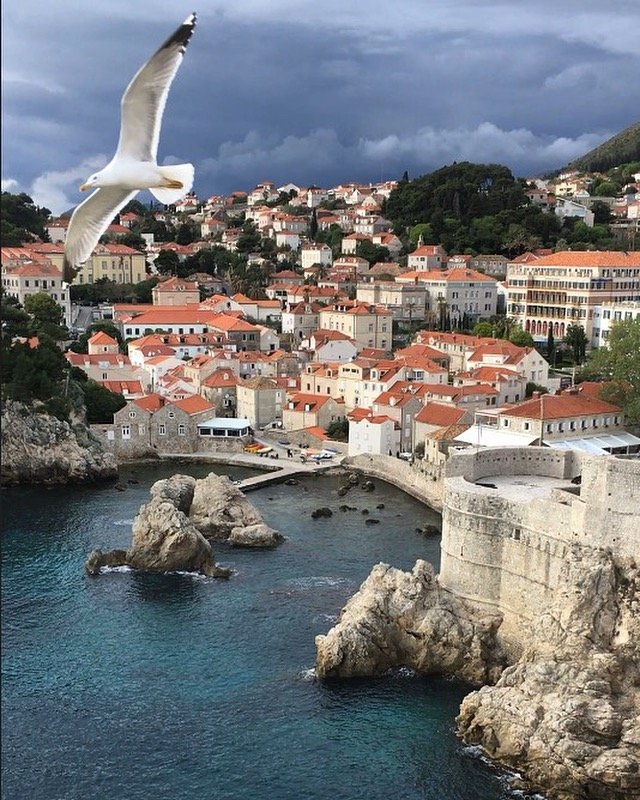 A real, actual picture I took of Dubrovnik from the City Walls